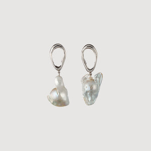 Drop Earrings with Baroque Pearl
