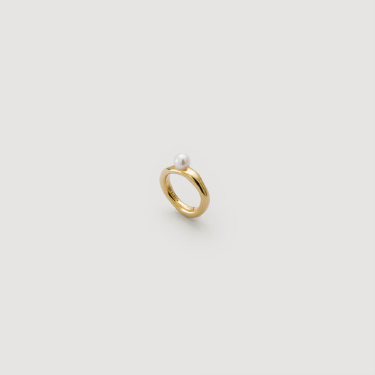 Pearl Band Ring - Gold