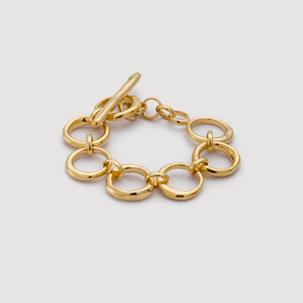 Classic Circle Chain Bracelet - Gold