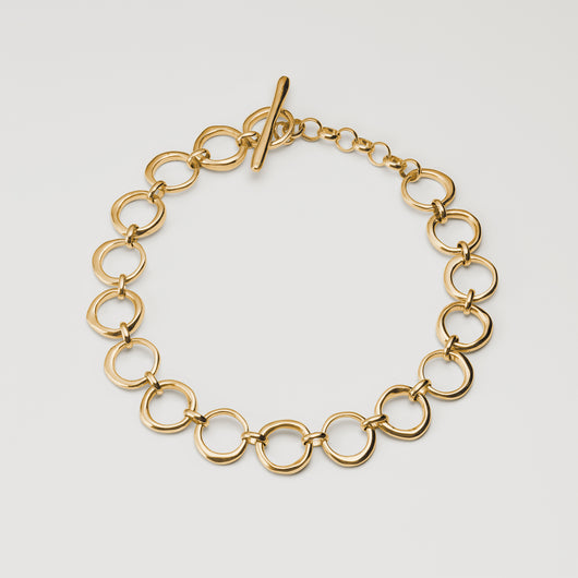 Classic Circle Chain Necklace - Gold