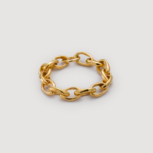 Oval Chain Bracelet - Gold
