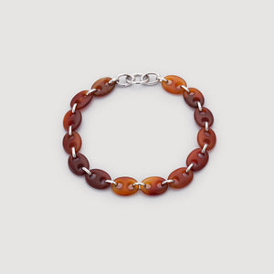 Carnelian Agate Link Necklace