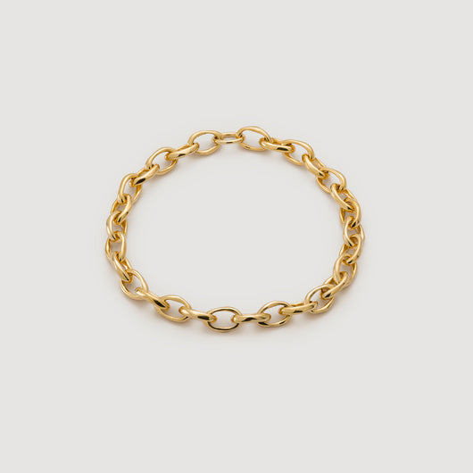 Oval Chain Necklace - Gold
