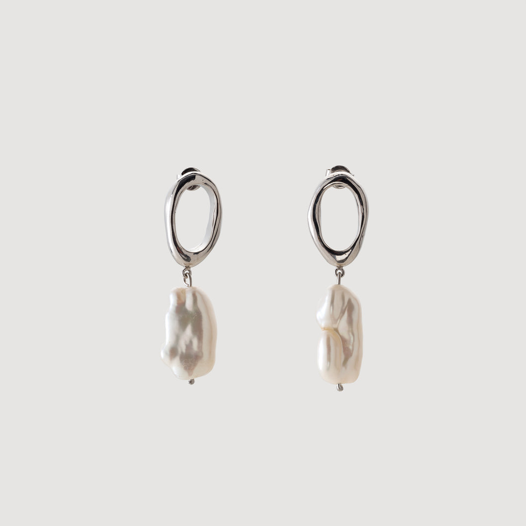 Mini Drop Earrings w/Baroque Pearl
