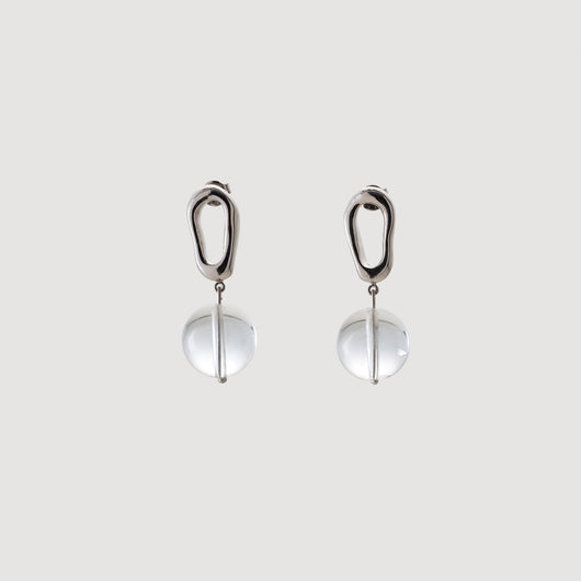Mini Drop Earrings w/Quartz