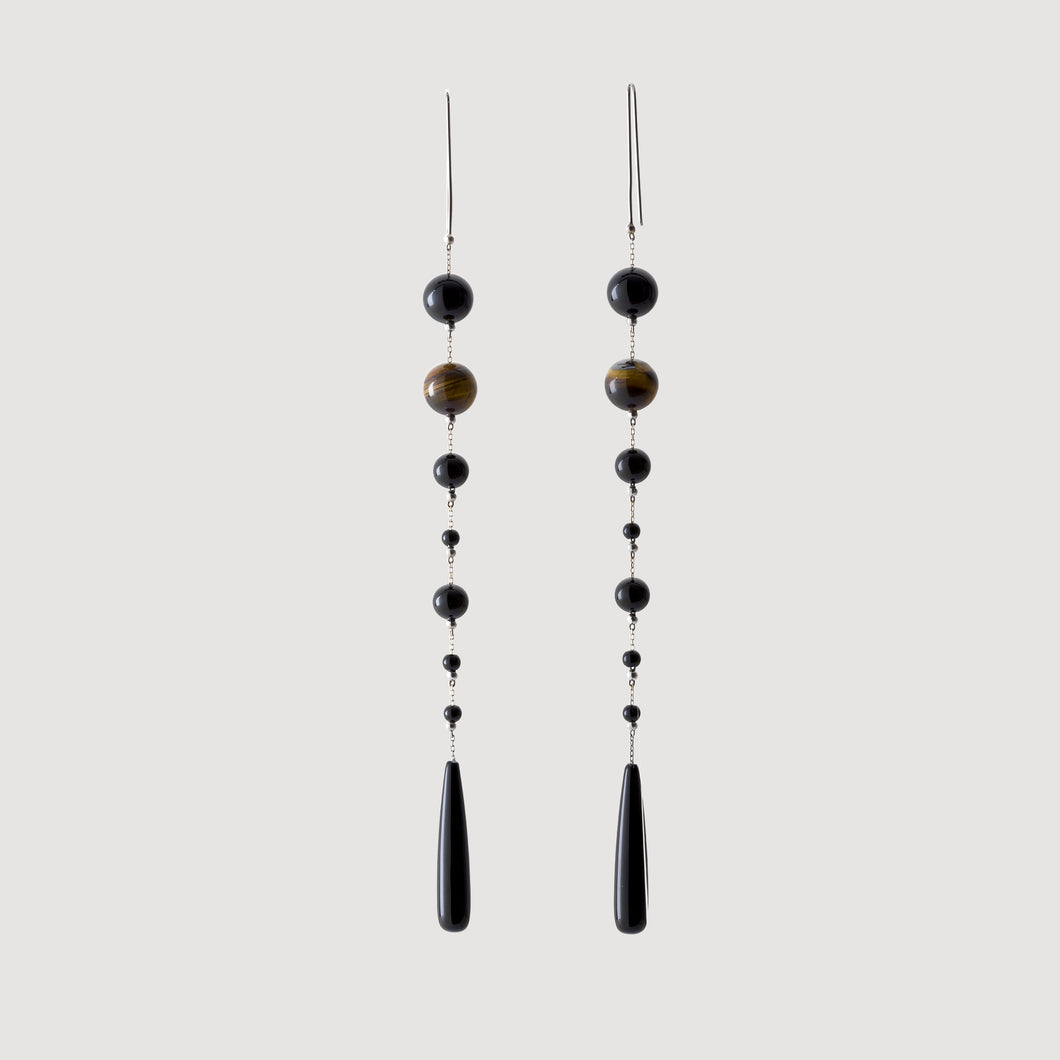 Mixed Onyx Earrings