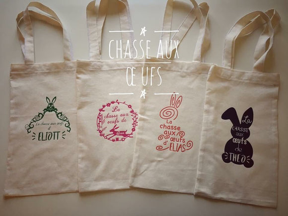 Tote bag chasse aux oeufs