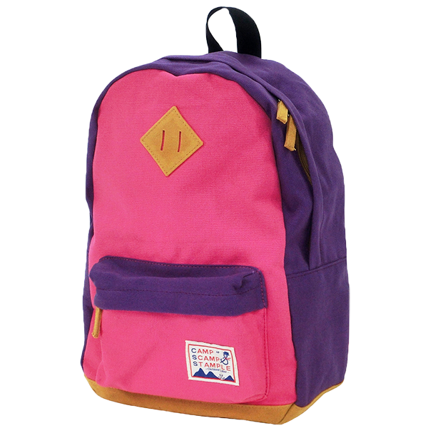 STAMPLE Cotton Canvas Backpack PINK