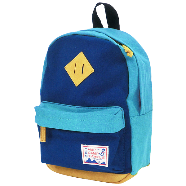 STAMPLE Cotton Canvas Backpack BLUE