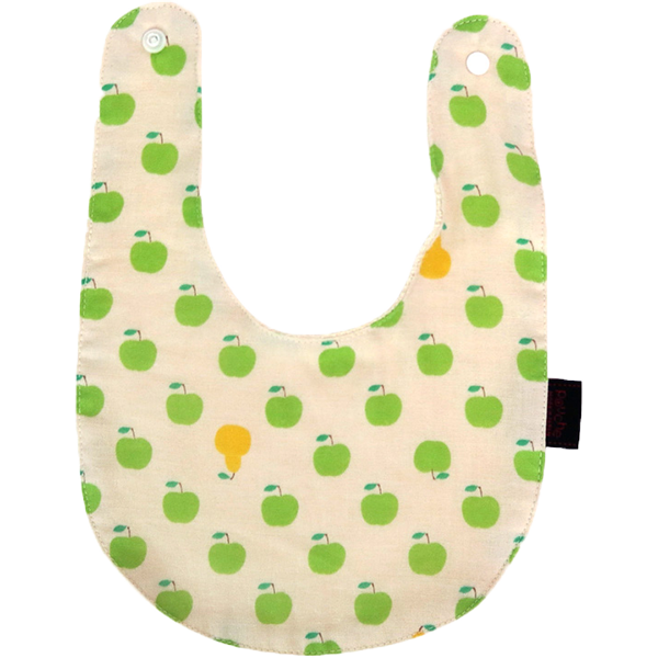 Bib -double gauze- APPLE(Green)
