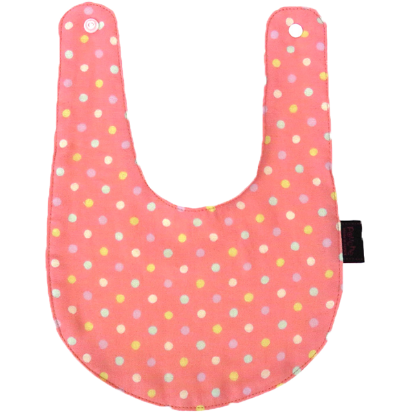 Bib -double gauze- MINI POLKA DOT(Sugar Pink)