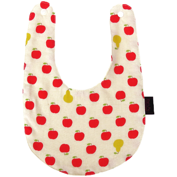Bib -double gauze- APPLE(Red)