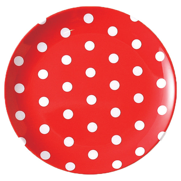 Polka Dot Plate - RED