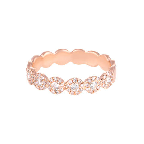 Let It Shine- Circle 14k Rose Gold and Diamond Ring- Lola James Jewelry