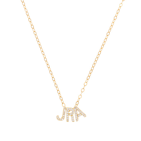 Ice- CZ Letters Necklace - Lola James Jewelry