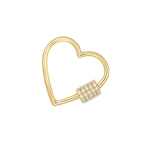 Diamond Open Heart Charm