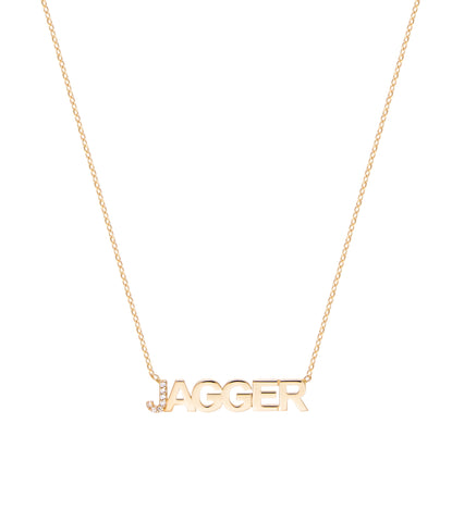 First Letter Diamond Uppercase Name Necklace