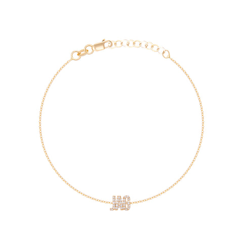 Diamond Uppercase Name Bracelet