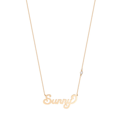 Script Name Necklace With Diamond(s) In The Chain