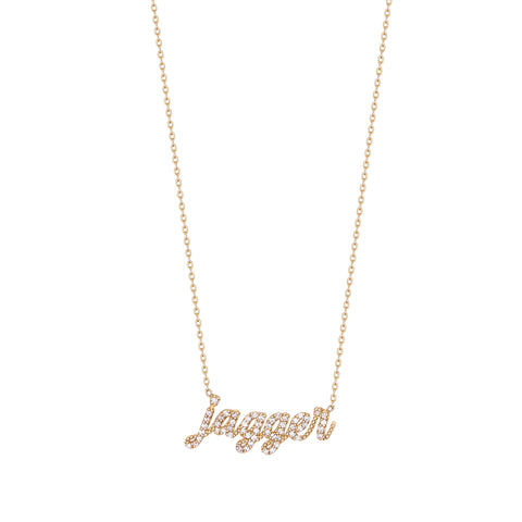 Diamond Script Lowercase Name Necklace