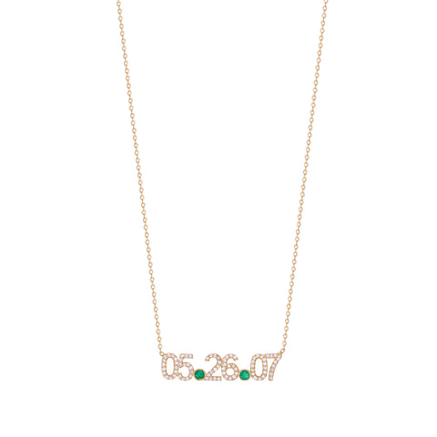 Diamond Date or Initials Necklace