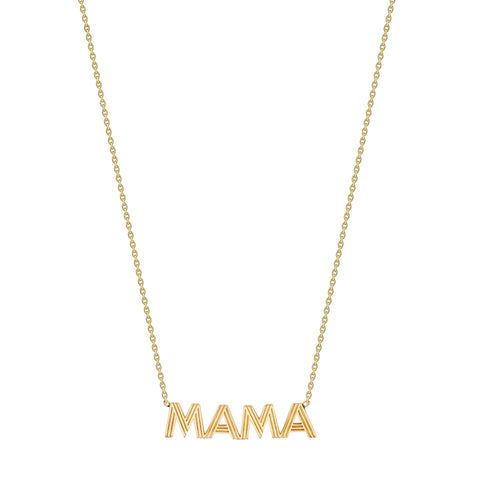 Fluted MAMA Necklace