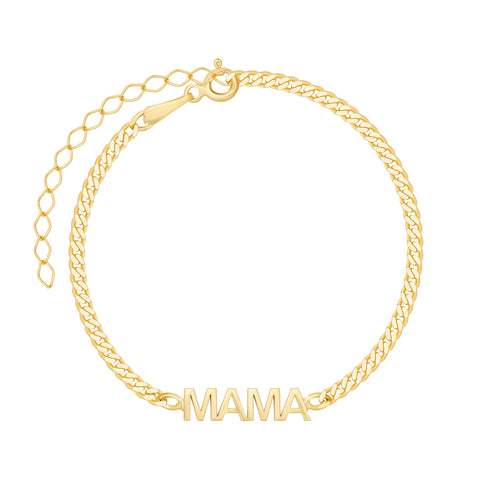Cuban Link Name Bracelet - Plated