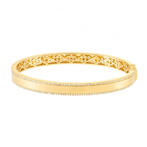 Dazzle- Fine Diamond Bracelet Bangle- Lola James Jewlery