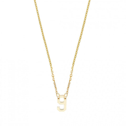 Mini Lucky Number- 14K Gold Number -  Lola James Jewelry