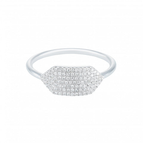Jazz It Up-  Micro Pave Diamond Ring in 14k White Gold -  Lola James Jewelry