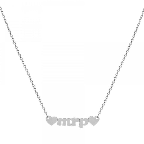 Mini Me - 14k White Gold Personalized Custom Necklace - Lola James Jewelry