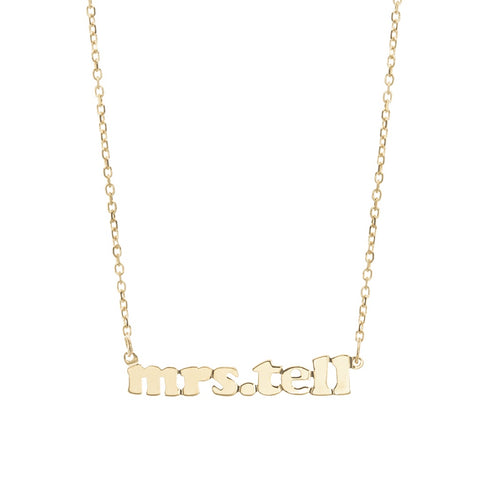 Mini Me- 14K Gold Personalized Custom Necklace- Lola James Jewelry