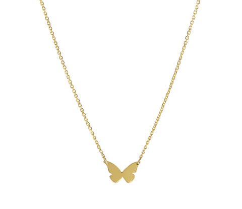 Flutter- 14K Gold Butterfly Necklace- Lola James Jewelry