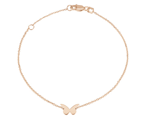 Flutter- Butterfly Bracelet 14k Rose Gold-Lola James Jewelry