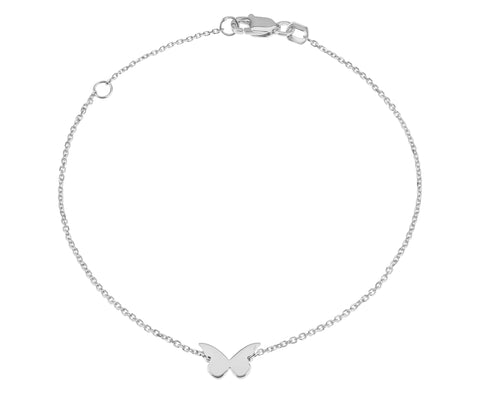 Flutter- Butterfly Bracelet 14k white gold - Lola James Jewelry