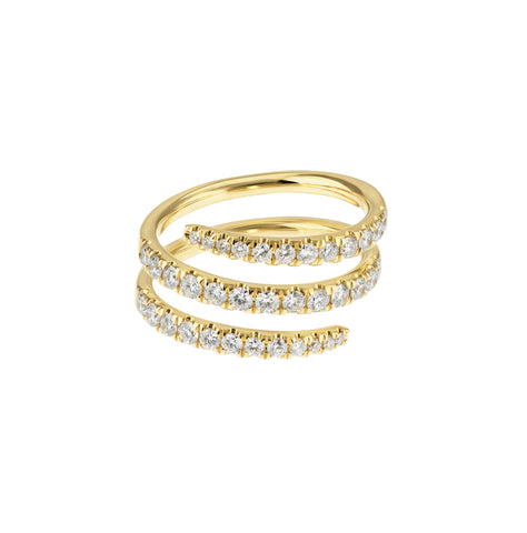 All Coiled Up - 14K Gold Diamond Ring - Lola James Jewelry