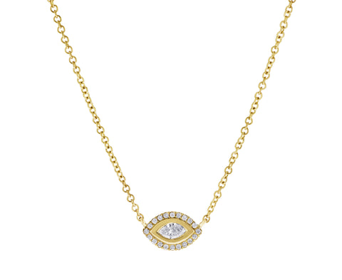 Eye Candy- Diamond Evil Eye Necklace- Lola James Jewelry
