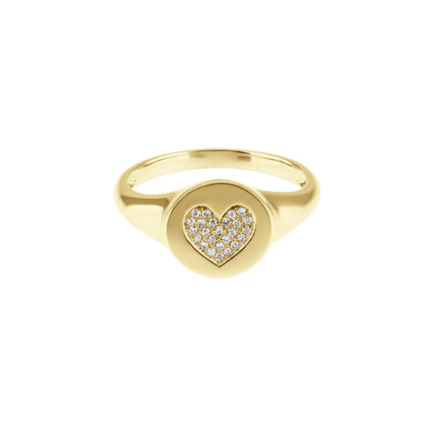 Love Potion- Diamond Heart Gold Ring- Lola James Jewelry