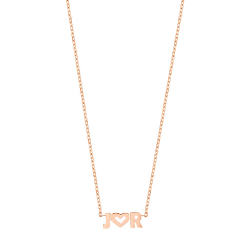 Uppercase Name Necklace - 14K Rose Gold