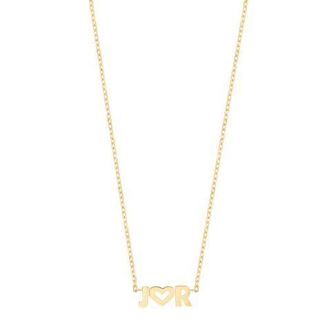 Uppercase Name Necklace - 14K Yellow Gold