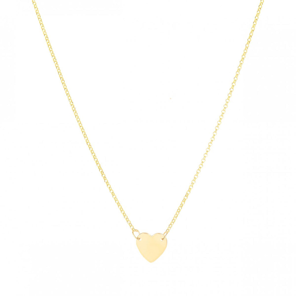 a0d397e05 Fall In Love - 14K Yellow Gold Heart Necklace - Lola James Jewelry