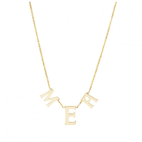 Squad Goals Monogram- 14K Monogram Necklace- Lola James Jewelry