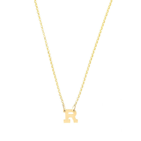 Mini Initial- Mini Initials 14K Gold Necklace- Lola James Jewelry