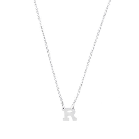 Mini Initial- 14K White Gold Mini Initial- Lola James Jewelry