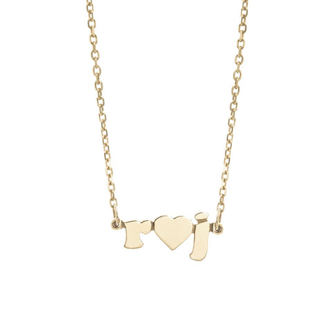 Mini Me Heart - 14K Gold Personalized Custom Necklace - Lola James Jewelry