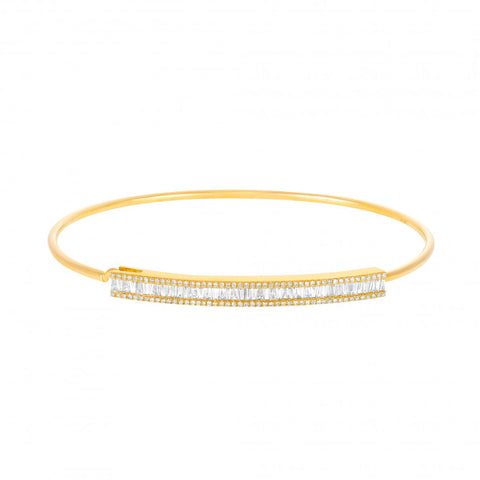 Crystal Clear- Diamond Baguette Bracelet- Lola James Jewelry