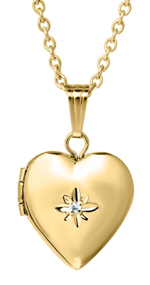 Heart Locket With Diamond Accent - Kids