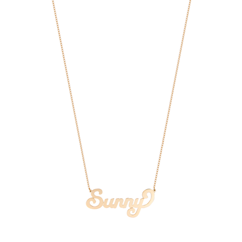 Script Name Necklace