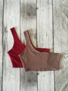 One Shoulder Crop Top* (Various Colours)