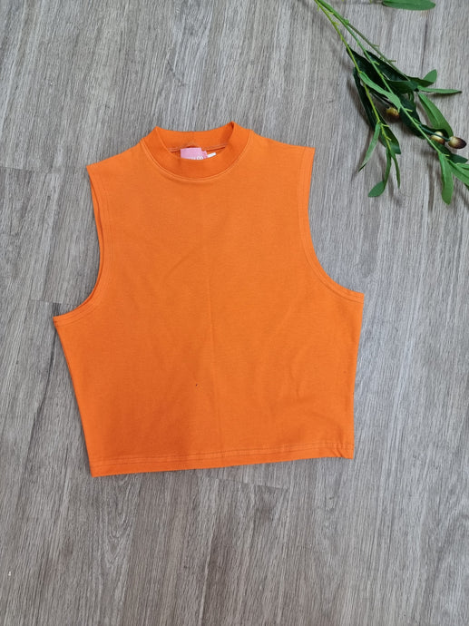 Orange Tank Crop Top